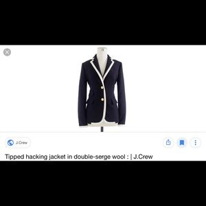 Hacked Tipping Jacket in Double Serge Wool